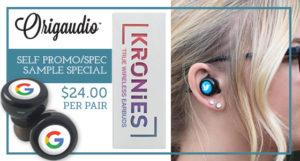 Kronies wireless earbuds trade show wiz swag evelyn flynn