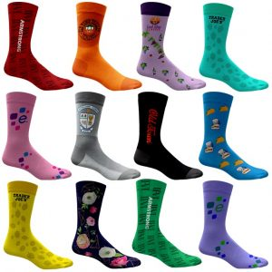 branded logo fun socks