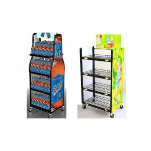 display rack with wheels